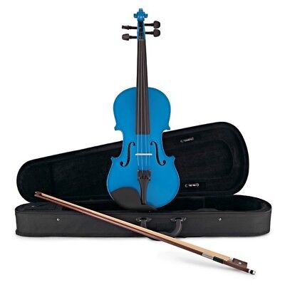 Student Full Size Violin Blue by Gear4music