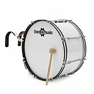 24'' X 12'' Marching Bass Drum with Carrier by Gear4music