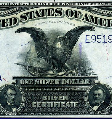 1899 $1 S/C (( Black Eagle )) Almost-Uncirculated E95196451A