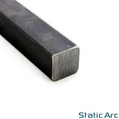 MILD STEEL SQUARE BAR SOLID METAL SECTION 10/12/16/20mm DIAMETER ALL SIZES