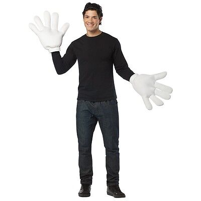 Big White Gloves Costume Accessory Funny Adult Cartoon Character Hands