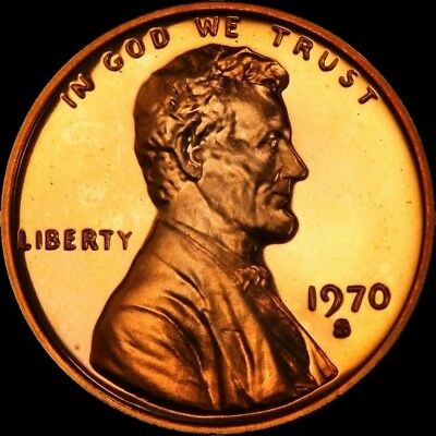 """1970 S Lincoln Memorial Cent PROOF Penny US Mint Coin in """"Beautiful"""" Condition"""