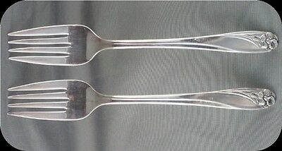 Two 1847 Rogers Daffodil Salad Forks Two