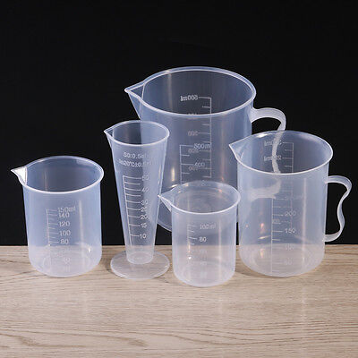 5 Size Plastic Measuring Jug Cup Graduated Surface Cooking Bakery Kitchen Lab