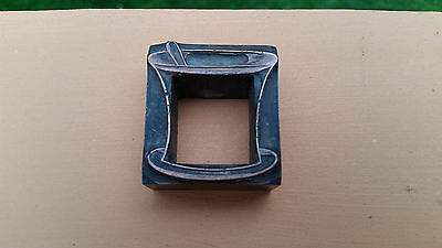 Antique Letterpress Apothecary Printing Block - Mortar & Pestle - Solid Metal