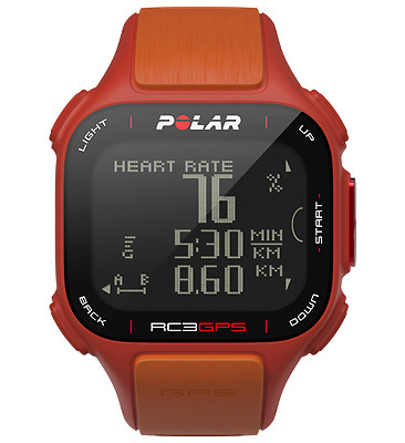 Polar RC3 GPS Running Cycling Fitness Watch + Heart Rate Monitor - Orange