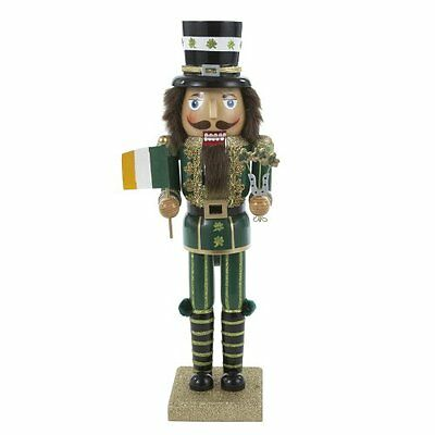 Kurt Adler Wooden Irish Nutcracker, 35,6 cm