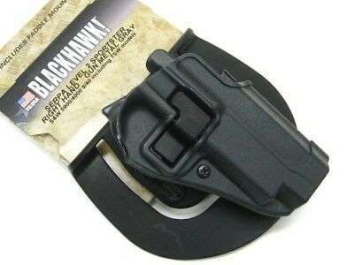 BLACKHAWK! Gray SERPA SPORTSTER Right Hand Holster Fits S&W 5900/4000 9/.40!