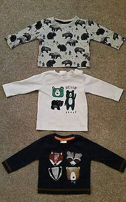 3 long sleeve boys tops age 3-6 months from Next