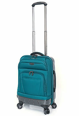 """RICARDO BEVERLY HILLS Wilshire 20"""" Carry on Expandable Luggage Spinner Teal"""