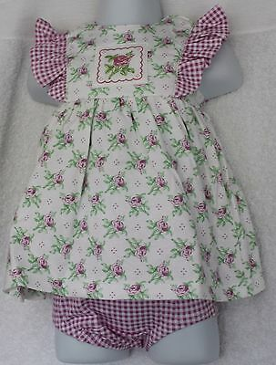 New Baby Girls Floral Dress & Matching Pants by New Potatoes Age 6 M FREE P&P