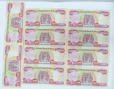 $250,000 DINAR  10 x $25,000 DINAR BILLS UNCIRCULATED CENTRAL BANK OF IRAQ