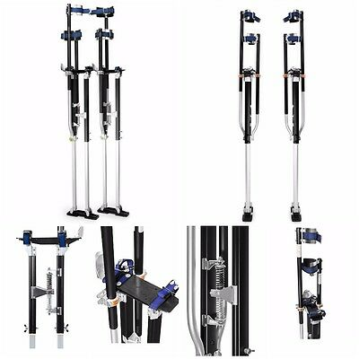 """Drywall Stilts 48"""" to 64"""" Painting Wiring Ceiling Height Adjustable Black"""