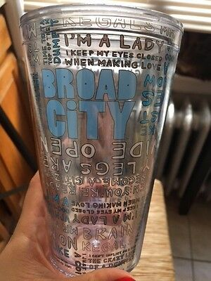 broad city merchandise cute tumbler cup with lid, blue