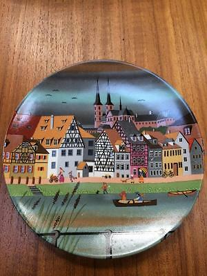 Vintage Poole Pottery England 436 Scene Vi Display Plate 15Cm Diameter