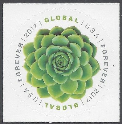 #5198 Green Succulent Global Forever International Rate Stamp 2017 Mint NH