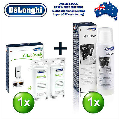 Delonghi EcoDecalk Eco Decalk Descaler Cleaner Cleaning Espresso Machine M-Kit