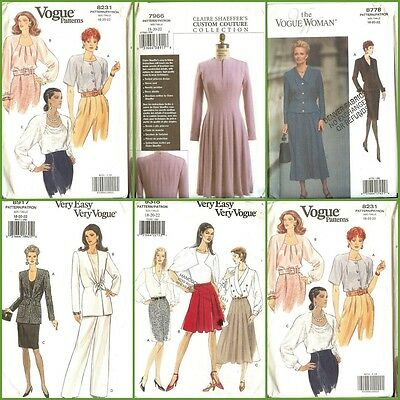 Oop Vogue Sewing Pattern Misses Plus Size 14 16 18 20 22 You Pick