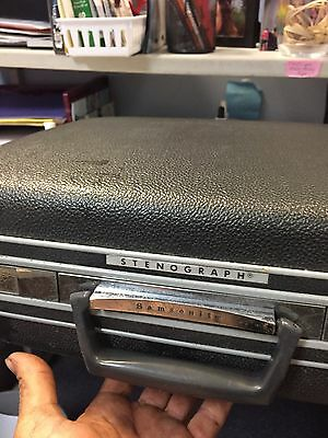 samsonite stenograph court room shorthand reporter machine  type writer