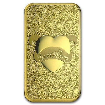 5~Gram ~Pure 9999 Gold ~ Love Always ~ Pamp Suisse ~Sealed Bar~ $254.88 ~ Buy It