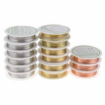 0.3/0.6/0.8mm Copper Wire DIY Jewellery Tiara Making Beading Wrapping Thread