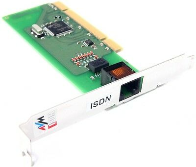 AVM FRITZ!Card PCI V2.1 ISDN Controller Fax Modem internal PC Card WIN7 LAN RJ45