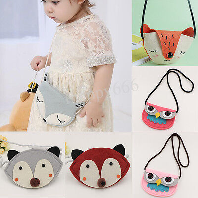 Baby Girl Fox Shoulder Bag Cute Owl Storage Crossbody Messenger Bags Handbag HOT