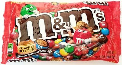 NEW Sealed Peanut Butter M&M's 10.20 oz Bag FREE WORLDWIDE SHIPPING IN A BOX