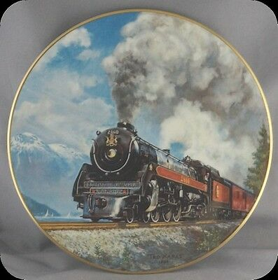 Ted Theodore Xaras Royal Hudson 2860 First Lady of Steam Collector Plate