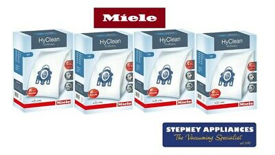 New  Miele Genuine Gn Hyclean 3D Xxl Bulk Pack Vacuum Bags 16 Bags 8 Filters