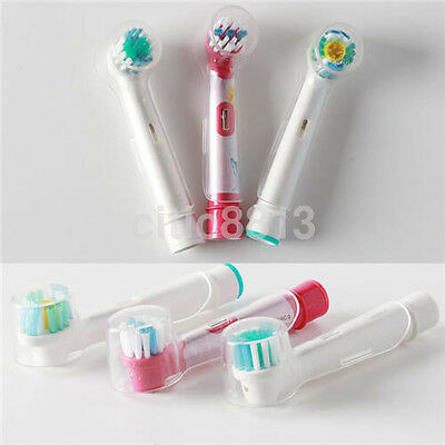 4pc Electric Toothbrush Clear Round Head Cover Anti Dust for Oral B AU