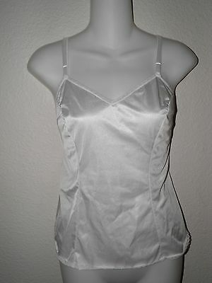 Vintage Vanity Fair White Camisole Fitted Style 38/44 Half Slip Camisole