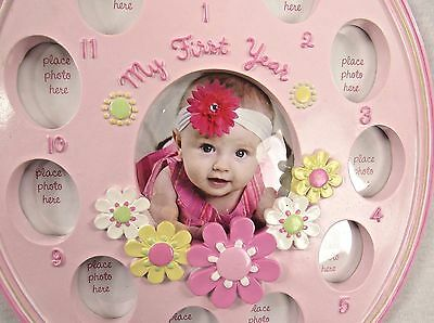 New Mother's Beautiful Picture Frame for 12 Months Baby Girl