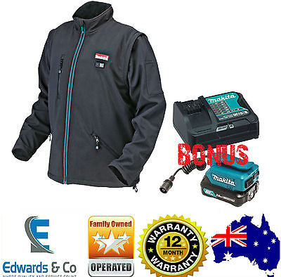 Makita Heated Jacket XL 18V Contractor Industrial BONUS Battery Charger New