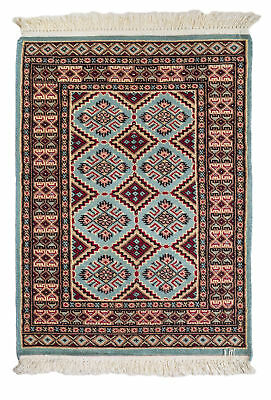 92x62 CM Tappeto Carpet Tapis Teppich Alfombra Rug Kashmir (Hand Made)
