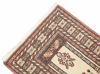 125x76 CM Tappeto Carpet Tapis Teppich Alfombra Rug Kashmir (Hand Made)
