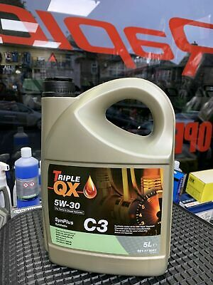 Triple QX SynPlus 5w30 Fully Synthetic Car Engine Oil 5L - Low Saps C3 (5 Litre)