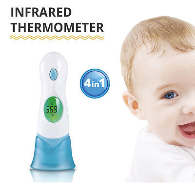 Multifuctional Digital Baby Thermometer Body Forehead Ear Ambient/Clock Infrared