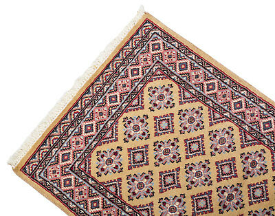 126x78 CM Tappeto Carpet Tapis Teppich Alfombra Rug Kashmir (Hand Made)