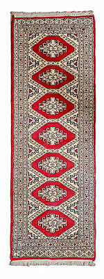 184x62 CM Tappeto Carpet Tapis Teppich Alfombra Rug Kashmir (Hand Made)