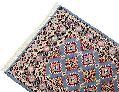 128x74 CM Tappeto Carpet Tapis Teppich Alfombra Rug Kashmir (Hand Made)