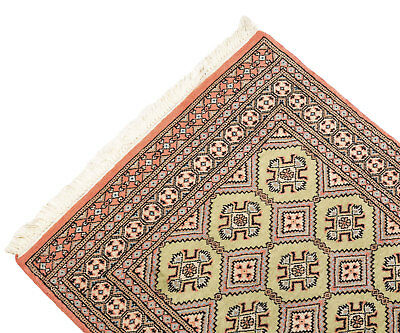 160x92 CM Tappeto Carpet Tapis Teppich Alfombra Rug Kashmir (Hand Made)