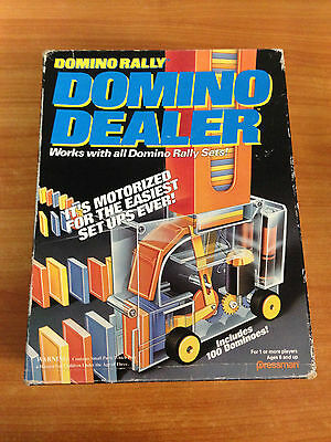 Vintage 1992 Pressman Domino Rally Domino Dealer - Complete Working & Ex Cond