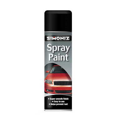 Simoniz Large Gloss Black Spray Paint 500ml