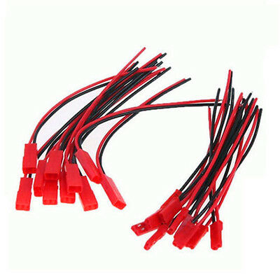 JST Plug 2pin Connector Micro Cable Wire Female+Male For RC Lipo Battery 10 Pair