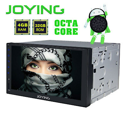 """Joying Android 8.0 Car Radio Stereo HD 7"""" Double 2Din GPS Navigation BT WiFi AUX"""