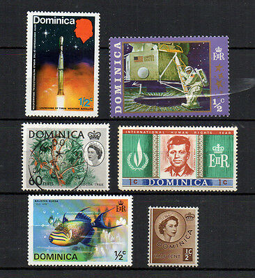 DOMINICA old vintage stamps bulk lot John F Kennedy Moon Landing Space Satellite