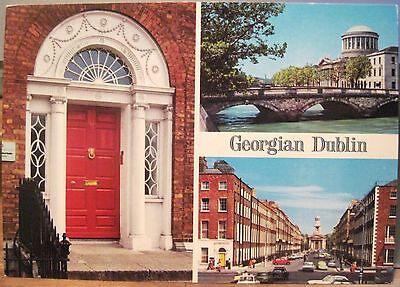 Irish Postcard GEORGIAN DUBLIN Ireland Multiview Door O'Toole John Hinde 2/526