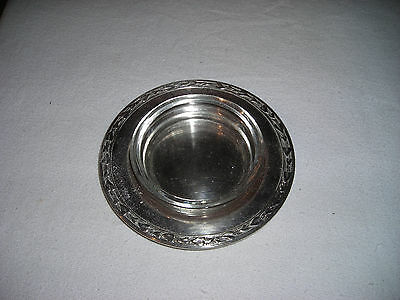 Vintage! WM.Rogers Round Silverplate Ash Tray Dish