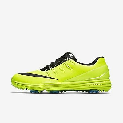 New! Nike Mens Lunar Control 4 Golf Shoes- Volt/Black-  Photo Blue -New In Box
